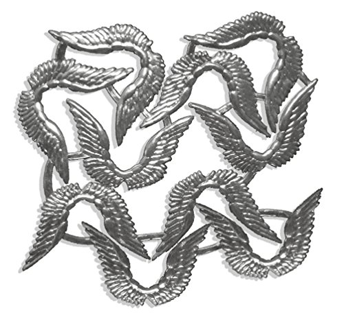 Kunze A067240102 Engelsflügel, 7 x 4.5 cm, 10 Stück, Geprägtes Papier, Silber