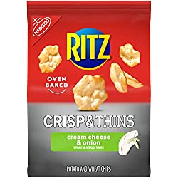 RITZ Crisp and Thins Cream Cheese and Onion Chips, 7.1 oz