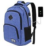 Mochila Portatil para Hombre con Puerto de Carga Externa USB para Macbook y Netbook Negocio Escolar -35L