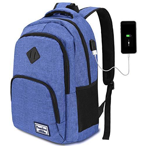 Mochila Portatil para Hombre con Puerto de Carga Externa USB para Macbook y Netbook...