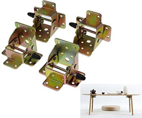 Micro Trader 4X Iron Locking Folding Table Chair Leg Brackets Hinge Self Lock Foldable Hinges