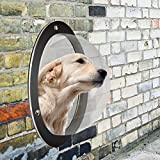Benchmart 1 Pack Pet Dog Fence Bubble Window, Durable Acrylic Dome Pet Dog Fence Peek Window for Cats Dogs Prevent From Jumping, Reduce Barking & Digging Including All Necessary Bolts & Nuts (1 Pack)