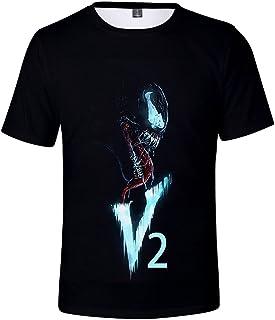 Men's Venom T-Shirt Novelty Short Sleeve Realistic 3D Print Tee Unisex Casual Tops