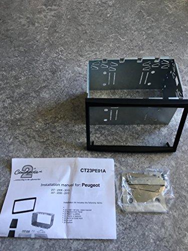 Connects2 CT23PE01A Peugeot 207, 307, 307SW 307CC, Doppel Din Blende Teller
