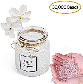 Water Beads Clear- 50000 Vase Filler Gel Beads for Flowers Center Table Decor, Kids Tactile Sensory Toys,Wedding Centerpieces and Home Decoration