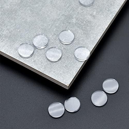 Mobci 30 Stück Schutzpuffer Transparent, Anschlagpuffer aus Weichem Material, zur Kontrolle der Bewegung der Glas-Tischplatte, Möbelpuffer für Tischglasplatte, Gummipuffer, Glas-Tisch-Saugnapf