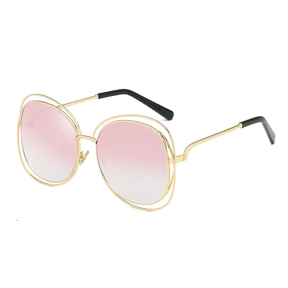 直接エラー役に立たないサングラス レディース 8色を駆動サイクリング釣りのためのレトロなサークル着色レンズのメガネ女子ラウンドサングラス (Color : Pink, Size : Free size)