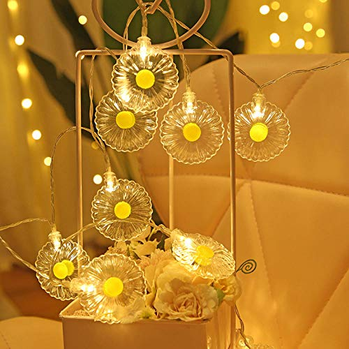 Hanging Festoon Operated Accessories Fairy Lights Battery Camping Lights Small Daisy String Lights Holiday Interior Decoration