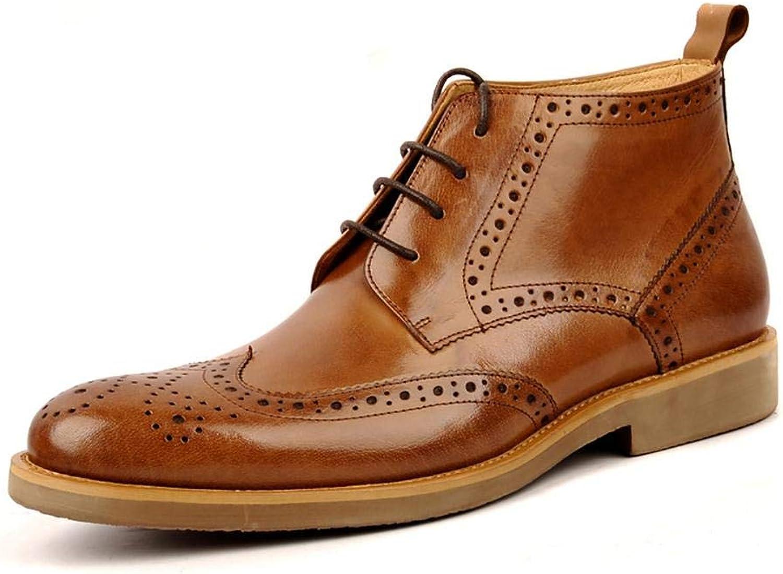 NANXZ Herren Bullock Leder High Top Stiefel Outdoor-Freizeit