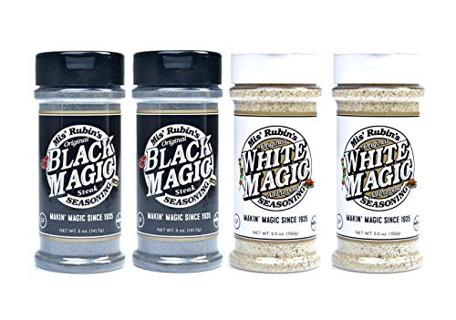 Gourmet All-Purpose Seasoning (5 oz.) – 4-Pack Black Magic White Magic Original Dry Rub Spice Powder Best Served on Grilled Meat, Vegetables, Steaks, Roasted, Stewed, Baked and Fried Gourmet Dishes