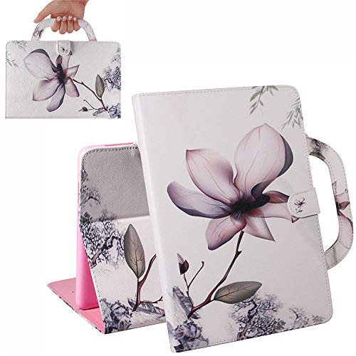 Bestcatgift [Fashion Handbag PU Leather Galaxy Tab 3 8.0 Flip Wallet Custodia [Painting Series] Tablet Folio Wallet Cover per Samsung Tab 3 8.0 inch SM-T310/T311 - Magnolia