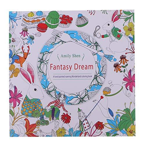 Amily Shen - Libro de Colorear para Adulto, diseño de Alicia en el País de Las Maravillas