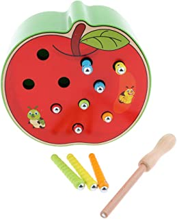 Baoblaze Wooden Board Magnet Bug Catching Game Toy Kit for Toddlers