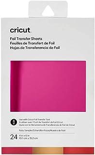 Cricut, Rubis Collection de feuilles de transfert de Foil, (boîte de 24), 24 pack 2008717