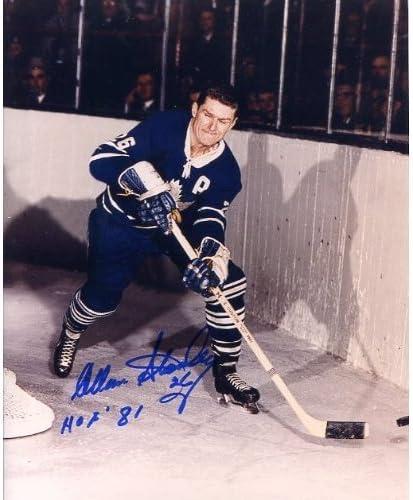Allan Stanley Hockey HOF Autographed Signed Original Col Overseas parallel import regular Branded goods item 8x10