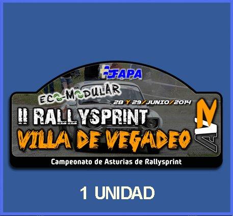 Ecoshirt 5X-4T9B-73V8 Pegatinas Stickers Rallysprint Villa De Vegadeo 2014 Dp562 Aufkleber Autocollants Adesivi Car Decals Rally Rallies