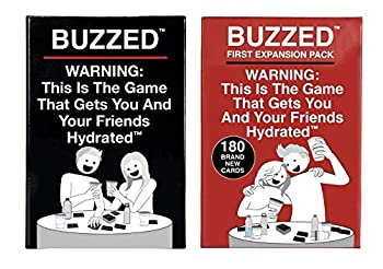 Buzzed & Buzzed Expansion Pack #1 Bundle - This is The Hilarious Party Game That Gets You and Your Friends Hydrated!