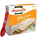 Manischewitz Unsalted Matzos Matzos Crackers Table Crackers Fresh and Crispy Matzah. 10 Oz. each pack With Bonus Measuring Spoon Included, 2 Count, (Pack of 2)