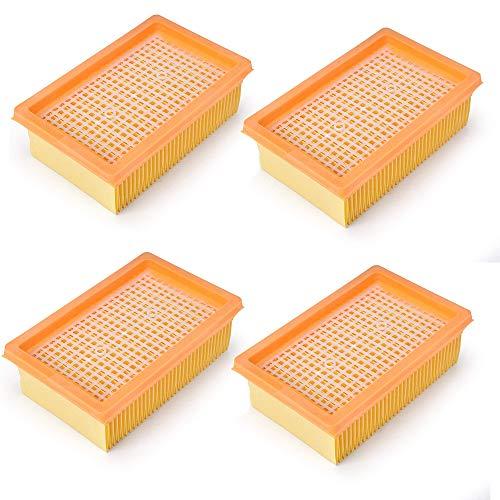 Doremi Juego de filtros para aspiradora Kärcher MV4 MV5 MV6 WD4 WD5 WD6 multiusos (alternativa a las piezas Kärcher nº 28630050)
