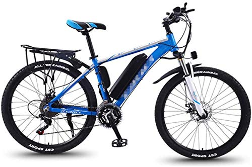 RDJM Bici electrica Bicicletas de montaña eléctrica for adultos, Todo Terreno conmuta el tren de rodaje deportivo de bicicletas de montaña completa 350W trasera del motor de ruedas, 26 '' Fat Tire E-B