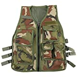 VGEBY Nylon Outdoor Multifunktion Weste Verstellbare Outdoor CS Spiel Airsoft Angelweste mit 5...