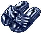 APIKA Frauen Und Männer Anti-Rutsch-Hausschuhe Innengebrauch Im Freien Bad Sandale Soft Foam Sole Pool Schuhe Haus Heim Rutsche(Navy blau,42/43 EU)