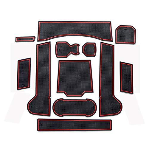 LFOTPP T-ROC Auto Styling Innentür Gummi Matte Becherhalter Slot Pad Rubber Mats (Red)