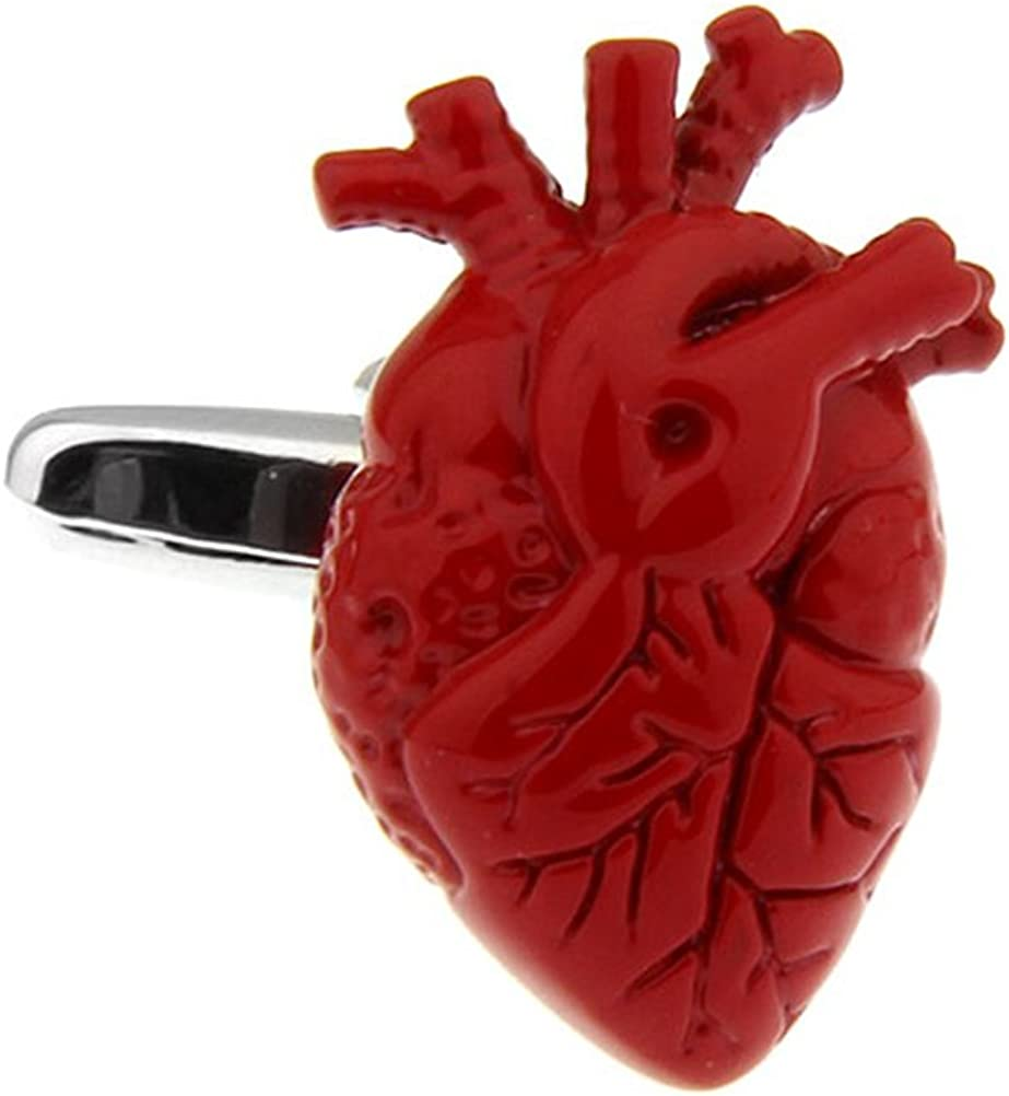 Anatomical OFFicial mail order Human Heart Cufflinks Manufacturer OFFicial shop Steampunk Anatomy Medical Docto
