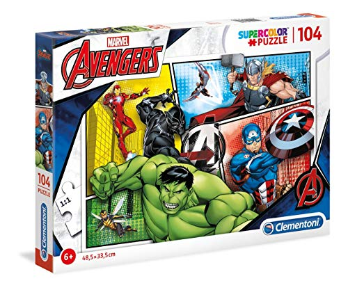 Clementoni Supercolor Puzzle-The avengers-104 Unidades