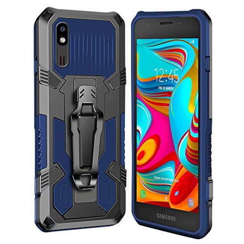 xinyunew Hülle Kompatibel mit Samsung Galaxy A2 Core, Stoßfest Outdoor Handy Hülle Militärstandard Schutzhülle Robust Stürzen Heavy Duty Gürtelclip Handyhülle für Galaxy A2 Core- Blau