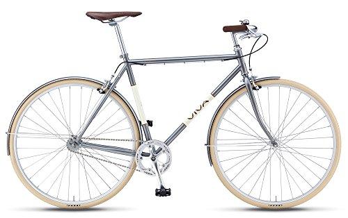 Buy Viva Legato Mustache Bar City Bicycle, Metallic Grey, 56cm/X-Large