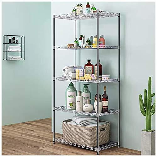 Sharehouse 5-Shelf Garage ShelvingStorage Shelving UnitMetal Shelves Wire Rack,Silver