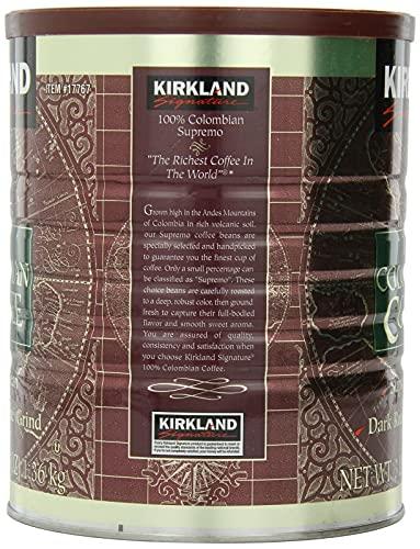 カークランド シグネチャー 100%コロンビアコーヒー 1.36kgレギュラーコーヒー 粉 細挽き [9407]