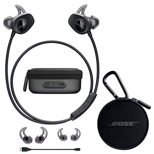 Bose SoundSport Wireless in-Ear Headphones - Black & Charging Case - Bundle