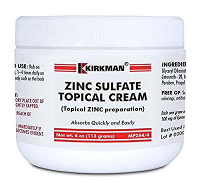 Zinc Sulfate Topical Cream - Kirkman by Kirkman Labs