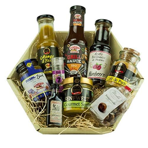 Altenburger Original Präsentkorb für Gourmets mit Schnaps, Geschenkkorb mit abwechslungsreicher Feinkost