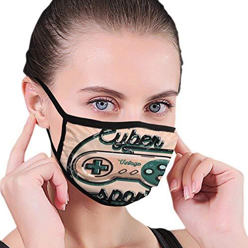 Vintage Videospiel-Controller mit Cyber Sport Quote Nineties Retro Design Der Gesichts- und Mundschutz schützt Sie vor Staub und seltsamen Gerüchen