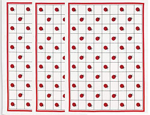 Trendstern ® Geschirrtuch Baumwolle 3-er Pack Set Marienkäfer Geschirrtücher Größe: 45/70