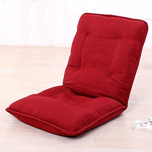 Fu Man Li Trading Company Coussin de canapé paresseux Chaise pliante Chaise de dossier Chaise d'ordinateur Chaise de canapé paresseux A+ ( Couleur : Rouge )