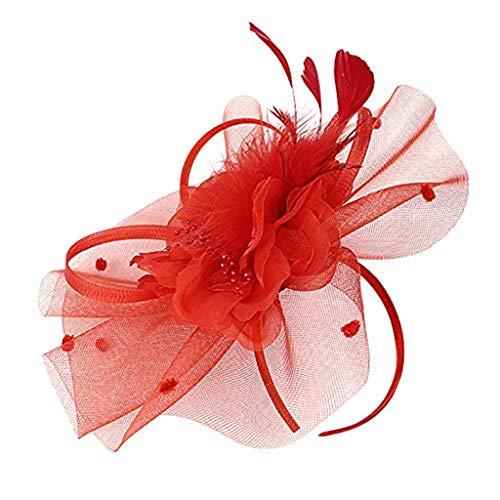 Beonzale Faszinator Handgemachte Frauen Haarspange Feder Hochzeit Casual Fascinator Kopfschmuck Feder Haarschmuck Cocktail Hut