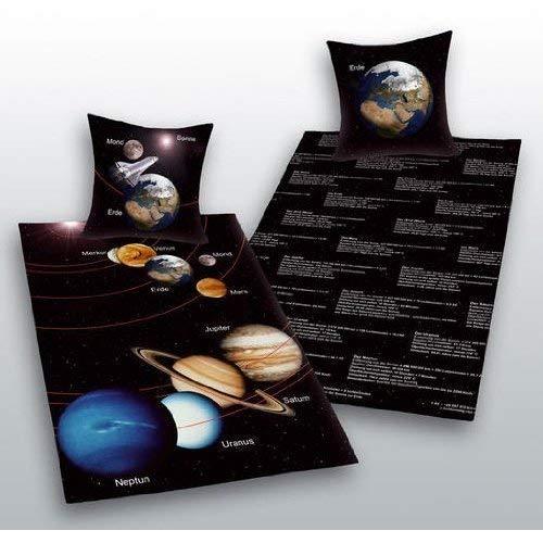 Sonnensystem Bettwäsche Herding Sonne Mond Geschenk COOL 135 x200 cm NEU Wow - All-In-One-Outlet-24 -