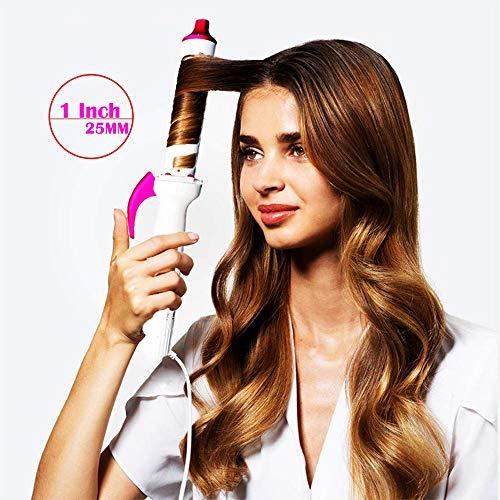 WWJJLL Infrarouge négatif d'ions Fer à friser, 25 mm Fer à friser pour Les Cheveux Longs et Cheveux Courts, température réglable