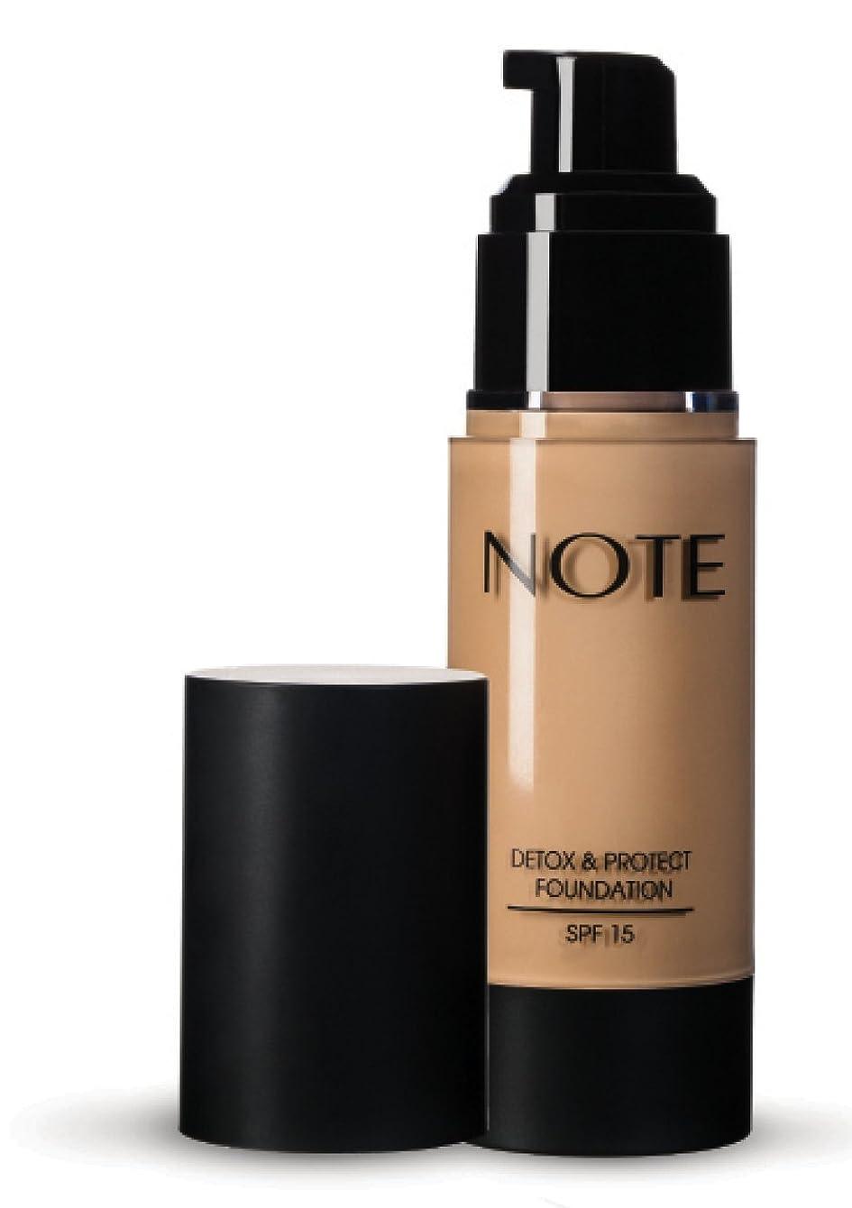 肯定的チャップ艶NOTE Cosmetics デトックス&財団を守り、 3オンス 第03