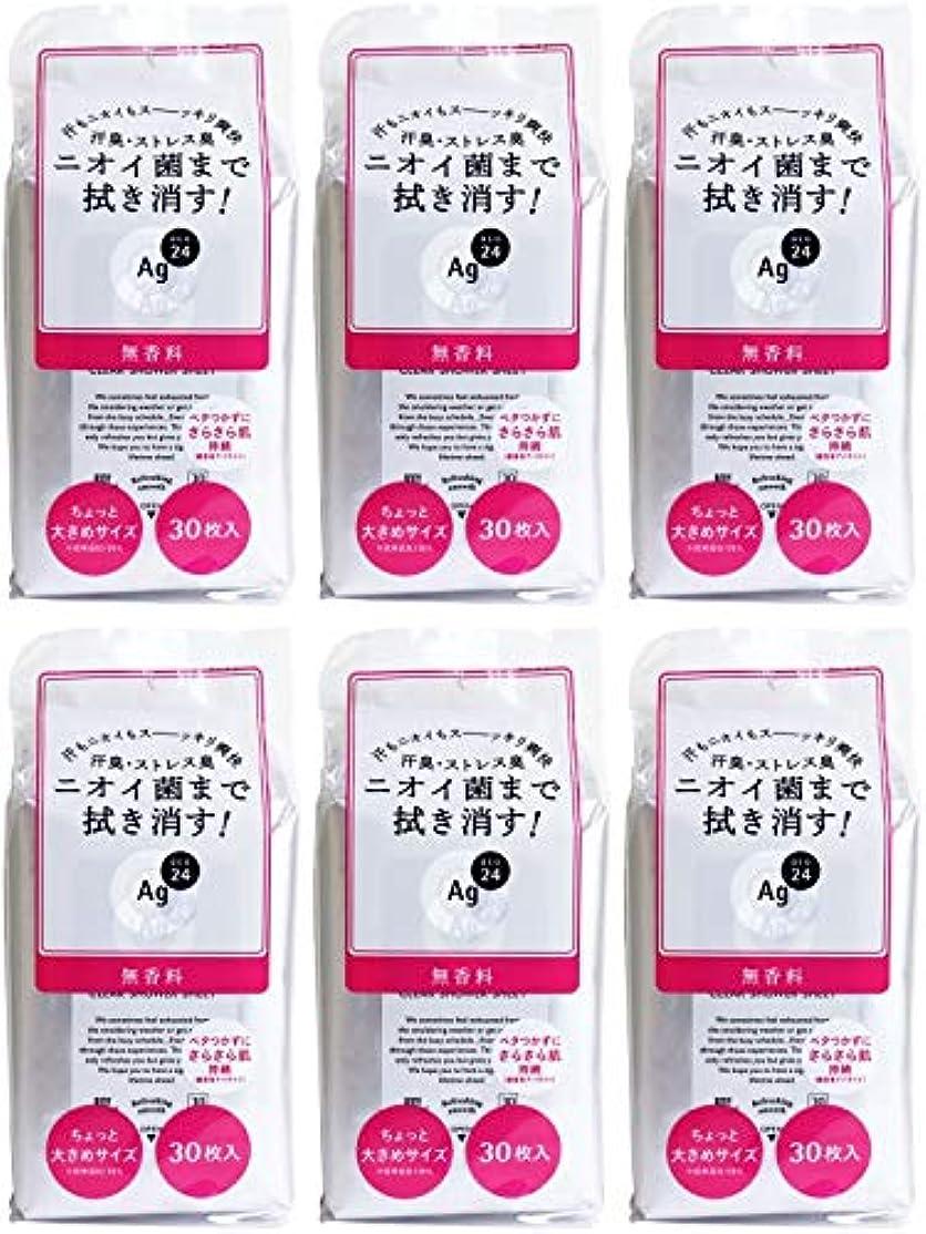 天気素晴らしき磁気【まとめ買い】エージーデオ24 クリアシャワーシート 無香料 30枚【×6個】