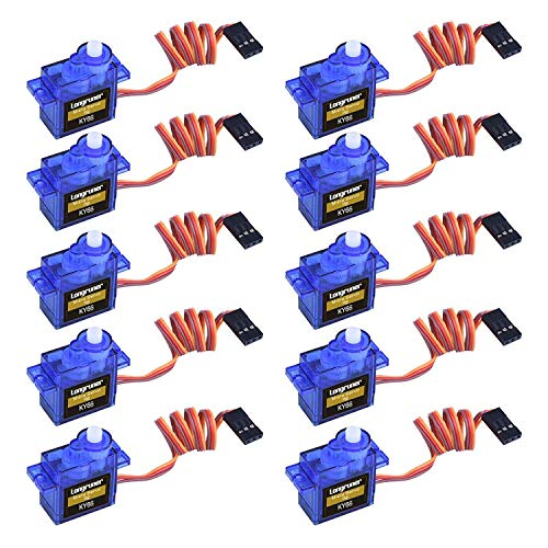 Longruner SG90 Micro Servo Motor 9G RC Robot Helicopter Airplane Boat Controls KY66-10