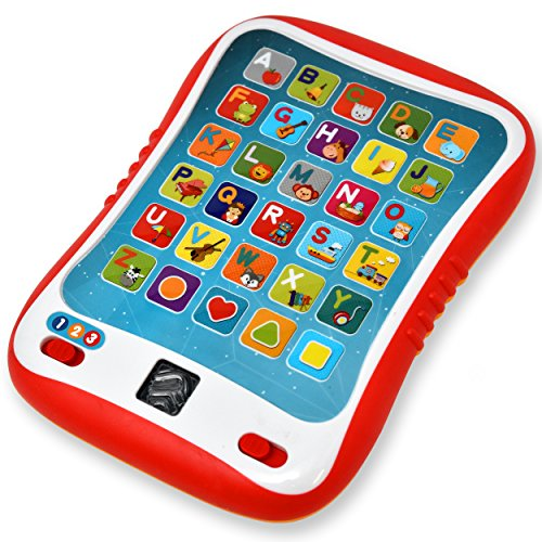Learning Tablet for Kids, Toddler Educational ABC Toy, Learn Alphabet Sounds, Shapes, Music and Words - Early Development Electronic Activity Game
