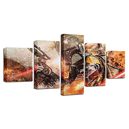 Sniper 5 Panel Wall Art Canvas 150X80Cm(59''X32'') Non-Woven Canvas Stretched and Framed Ready To Hang For Home and Office Decoration Decor (Ofi927)