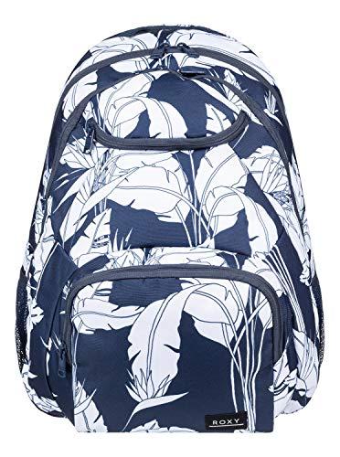 Roxy Damen Shadow Swell - Mittelgroßer Rucksack Backpack, Mood Indigo Flying Flowers s, 1SZ