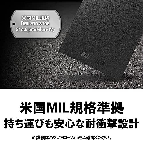 バッファローSSD外付け2.0TBUSB3.2Gen1ポータブルコンパクトPS5/PS4対応(メーカー動作確認済)ブラックSSD-PG2.0U3-BC/N