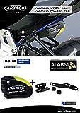 Artago 30X2 Antirrobo Disco Alarma 120 db Alta Gama y Soporte Yamaha MT-07 y Tracer 700, Homologado Sra Sold Secure